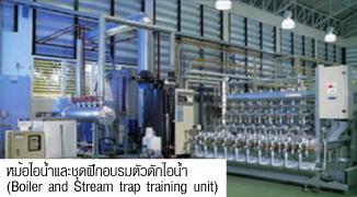 หม้อไอน้ำและชุดฝึกอบรมตัวดักไอน้ำ (Boiler and Stream trap training unit)